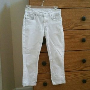 7 for All Mankind Skinny Crop & Roll Jeans Size 26